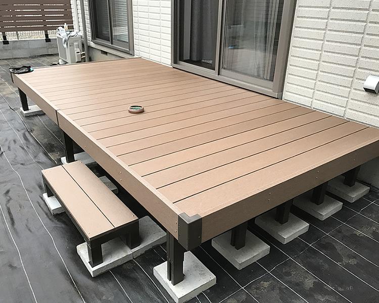 2間6尺人工木デッキ完成