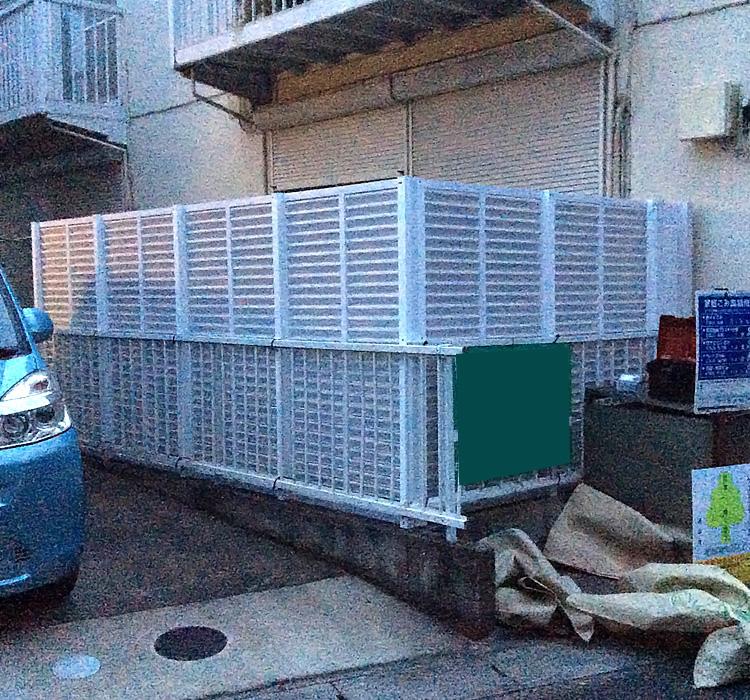 人工木ルーバー&フェンス設置完了!
