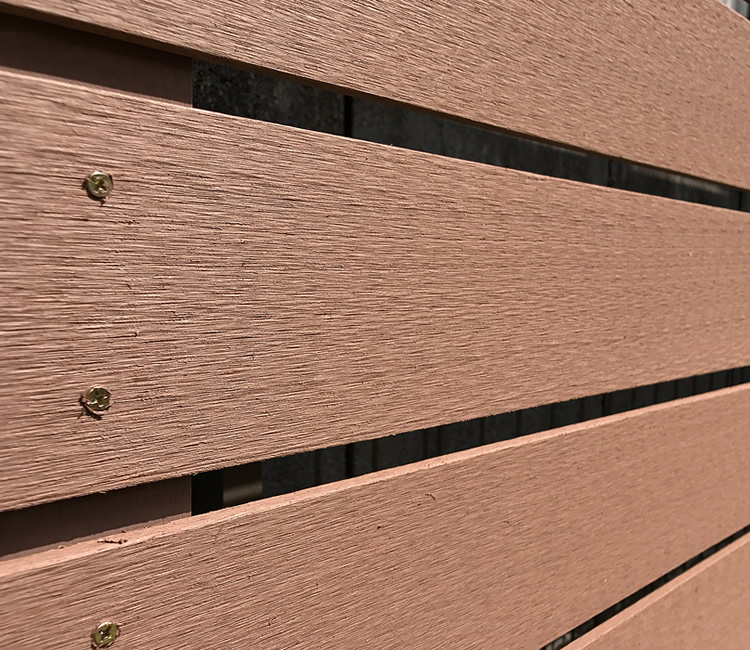 人工木材アップ写真