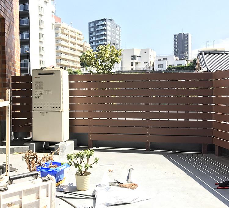 家屋側の板材処理
