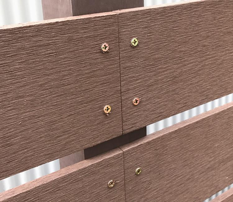 板材の繋ぎ目部分を拡大